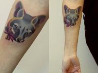 Татуировка зверёк на предплечье