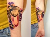 Татуировка баран на предплечье