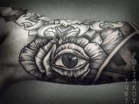 Татуировка всевидящего око на руке