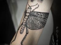 Татуировка кузнечик