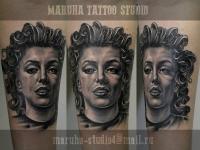 Татуировка портрет женщины