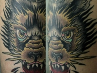 Татуировка морда волка