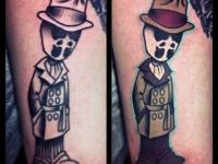 Татуировка человек в шляпе