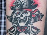 Татуировка череп пирата