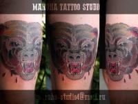 Татуировка голова медведя