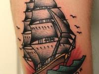 Татуировка корабль