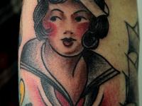 Татуировка портрет девушки