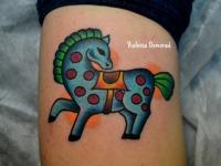 Татуировка лошадка