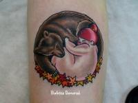 Татуировка медведь с ребенком