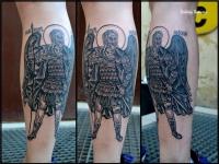 Татуировка Александр Невский на икре