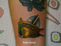 Татуировка затонувший корабль
