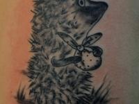 Татуировка ёжик в тумане