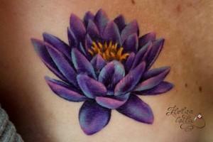 лотос татуировка tattoo на шраме лотос тату цветы