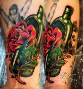 цветная татуировка тату