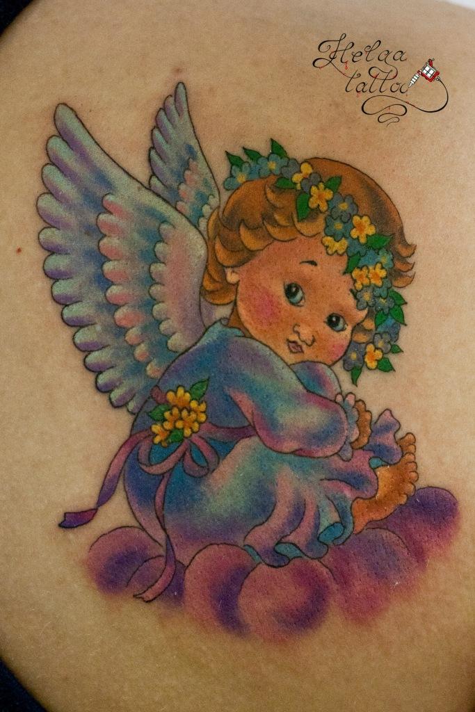 ангел татуировка ангелок