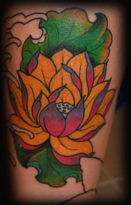 Лотос в. В процессе  карп. татуировка, олдскул, Маруха, студия татуировки