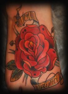 олдскул, татуировка, роза, студия татуировки