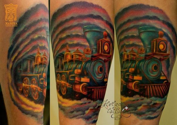 цветная татуировка тату салон татуировщики тату мастер  тату студия Maruha