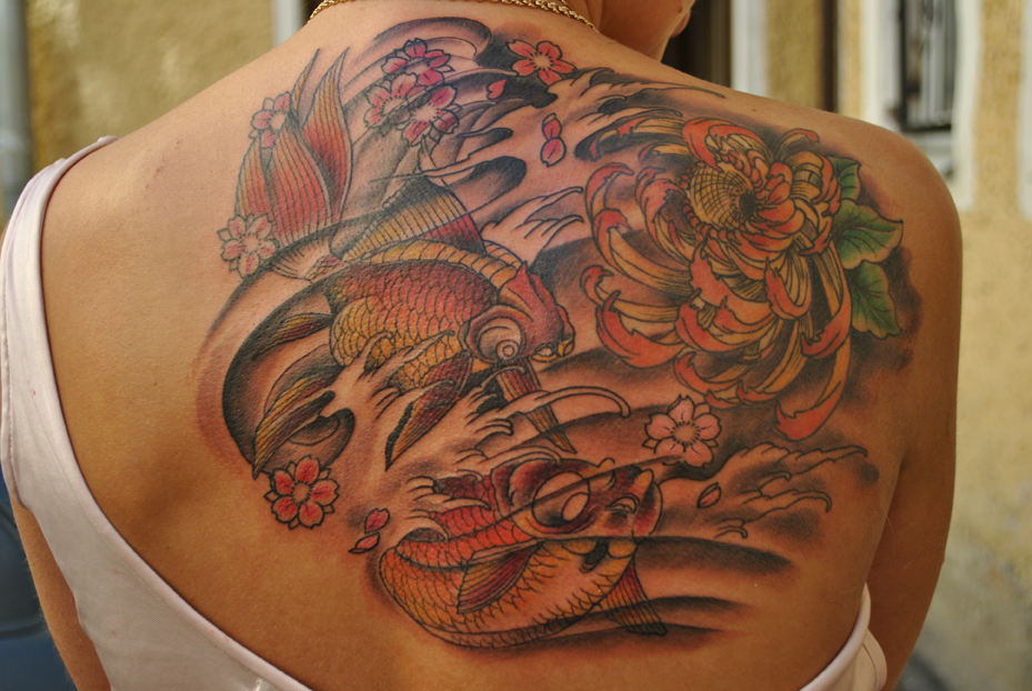 татуировка,рыбы, tattoo,студия татуировки,салон