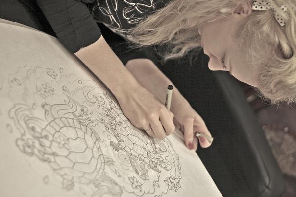 тату мастер студия салон татуировка орентал японская тату черепаха