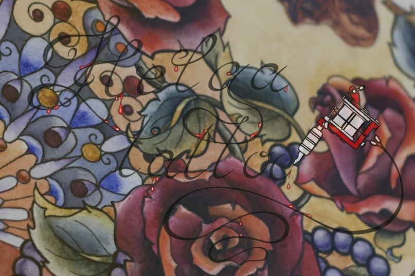 женская татуировка эскиз рисунок traditional tattoo олд скул