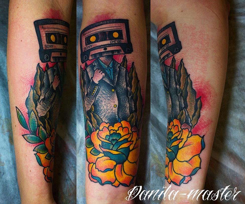 Художественная татуировка, тату, индивидуальное тату, традиционная татуировка, традиционная тату, tattoo, traditional tattoo, tattoo rose, тату роза, тату кассета