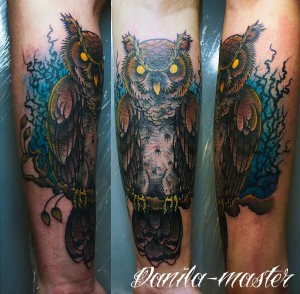 Художественная татуировка Совы, татуировка Совы, тату Сова, художественная татуировка, tattoo, tattoo owl,традиционная татуировка, traditional tattoo