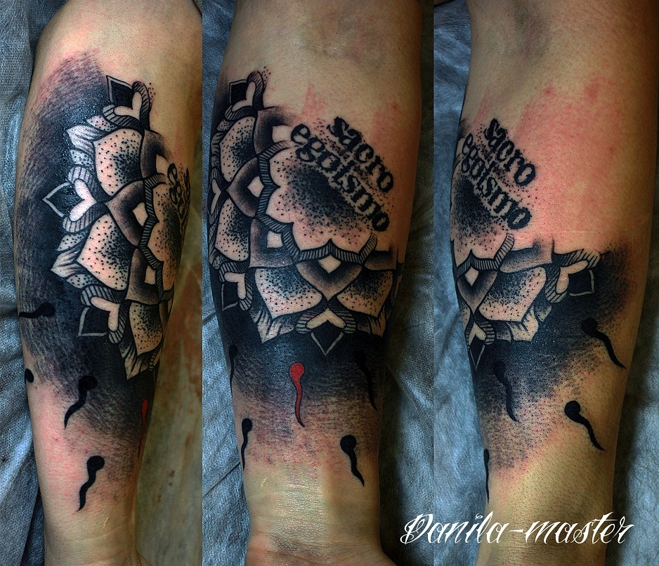Художественная татуировка, орнаментальная тату, тату надписи, эсклюзивное тату, тату Томас Хупер, sacro egismo tattoo, artist tattoo, ornamental tattoo, tattoo Tomas Huper.