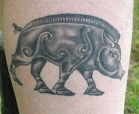 Татуировка с диким кабаном — что она может означать сегодня?