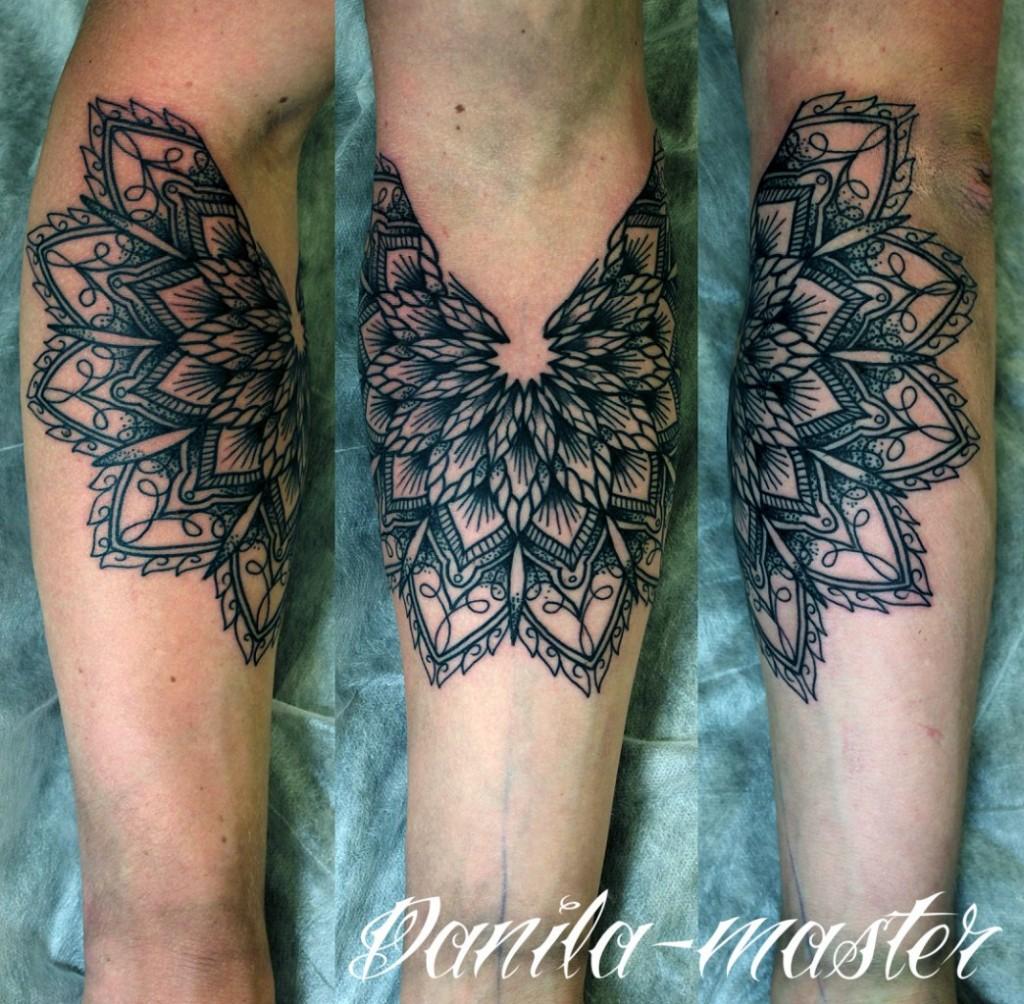 Художественная орнаментальная татуировка по собственному дизайну мастера. Формат А4.