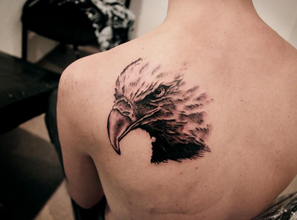 """Художественная татуировка """"Орёл"""". Мастер Денис Марахин."""
