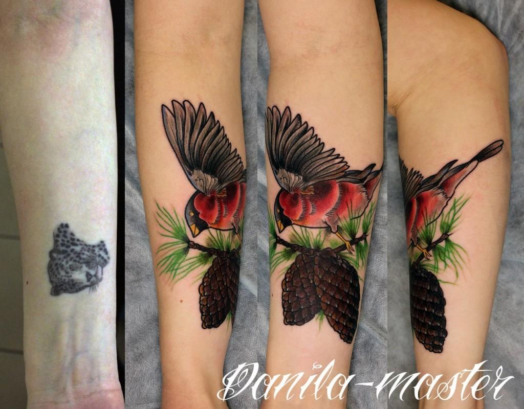 Художественная татуировка Птица. Данила - Мастер