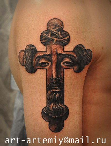 Художественная религиозная татуировка. Мастер Артемий Жаравин (Жан)