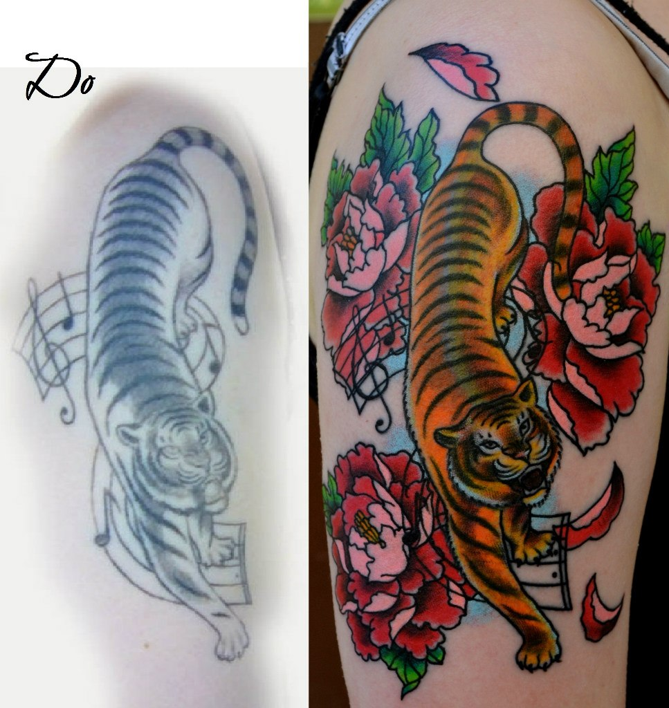 Татуировка выполнена на плече, 1 сеанс. Мастер Виолетта Доморад.
