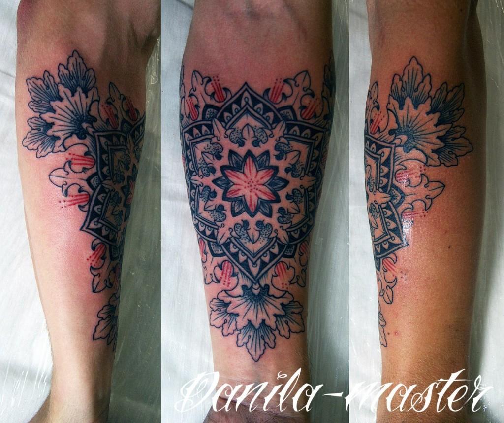 Художественная орнаментальная татуировка от Данилы - Мастера.