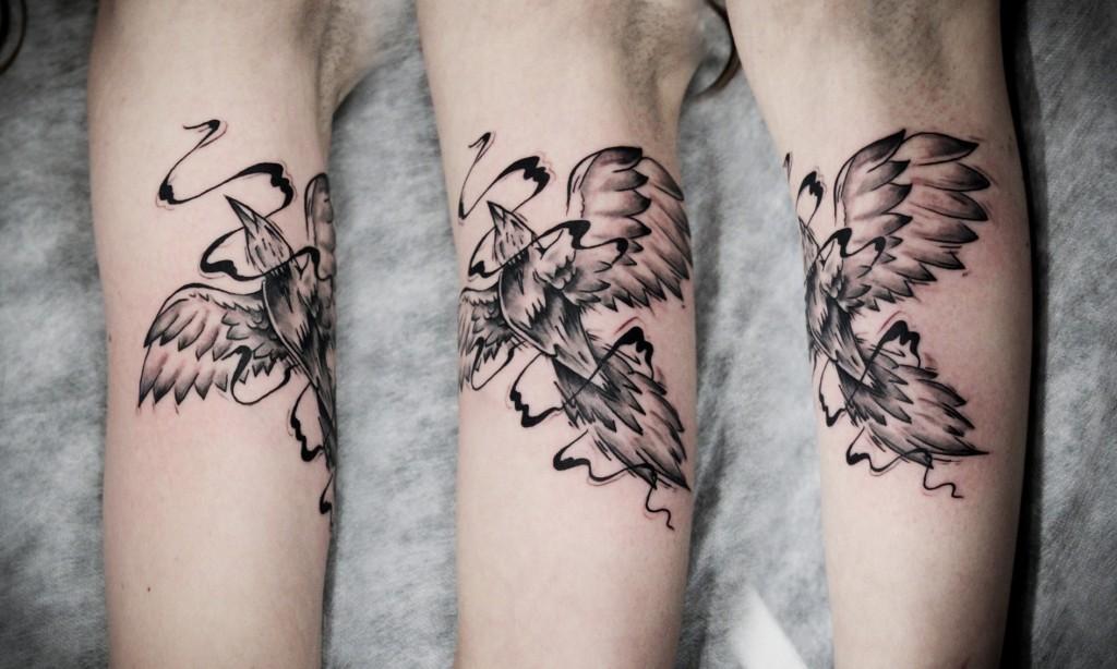 картинка татуировка птиц