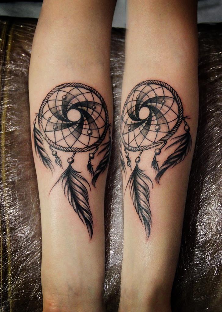 """Художественная татуировка """"Ловец снов"""". Мастер Валерий Моргунов. Расположение: предплечье."""
