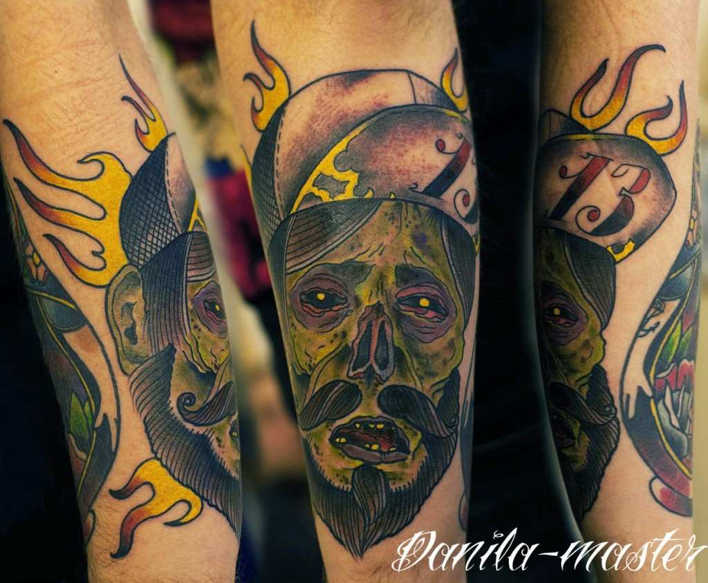 Художественная татуировка Зомби. Данила - Мастер