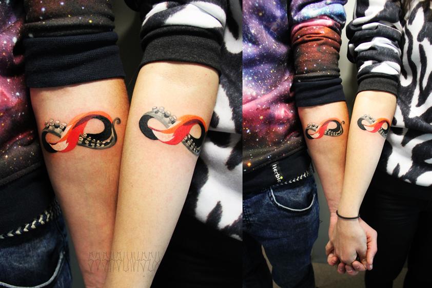 """Художественная татуировка """"Бесконечность"""". Мастер Саша Unisex. Расположение: предплечье."""
