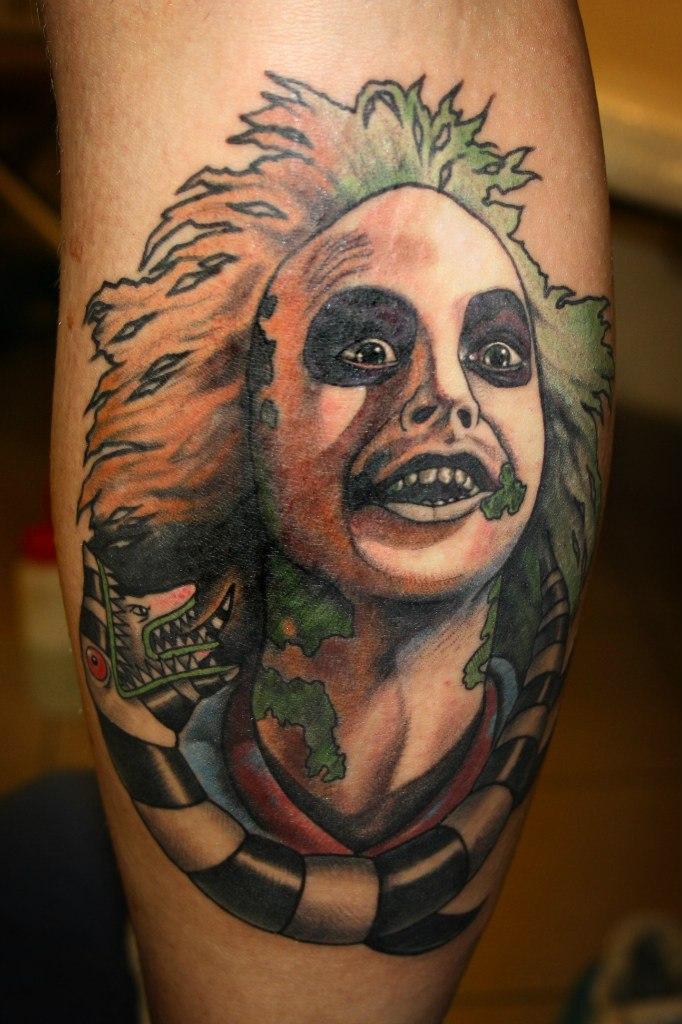 Художественная татуирока портрет Бителджуса. Мастер Павел Заволока