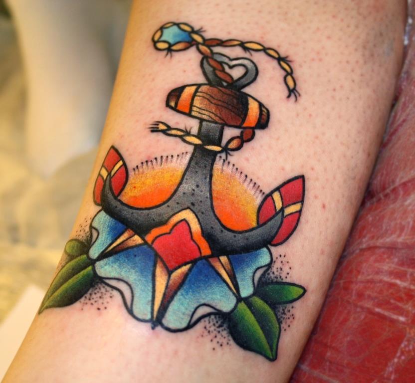 фото татуировки якорь