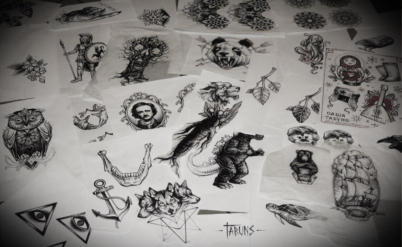 рисованные татуировки картинки