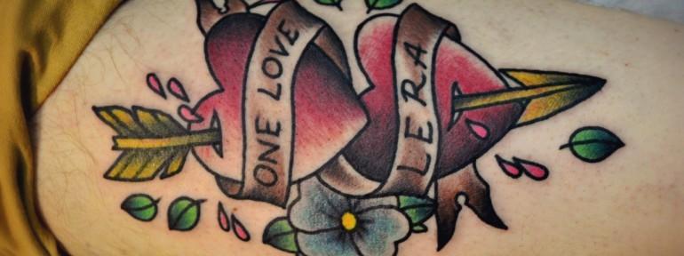 Татуировка » СЕРДЦА». Мастер Виолетта Доморад.