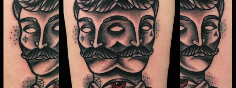 Художественная татуировка «Джентельмен». Мастер Денис Марахин.