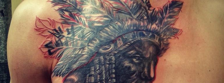 Татуировка индеец. Мастер Алекс Besss.