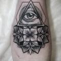 """Художественная татуировка """"Всевидящее око и мандала"""" от мастера Александры Табунс"""