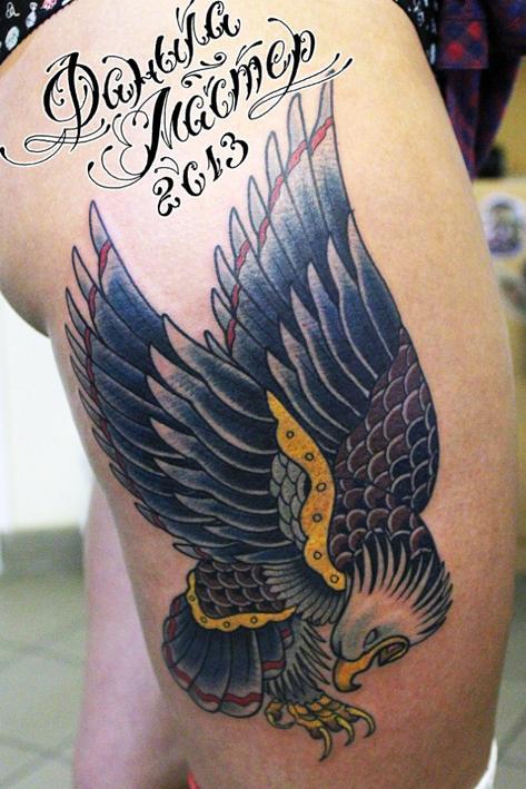 Художественная татуировка «Орел». Сотворил Данила- Мастер.