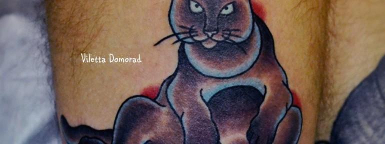 Татуировка котик от Виолетты Доморад