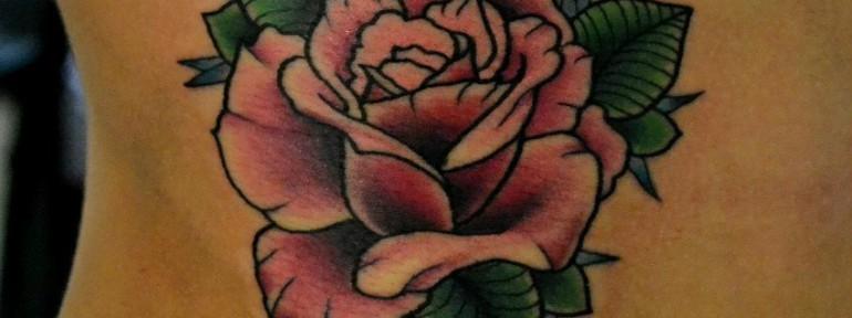 Татуировка «РОЗА». Мастер Виолетта Доморад.