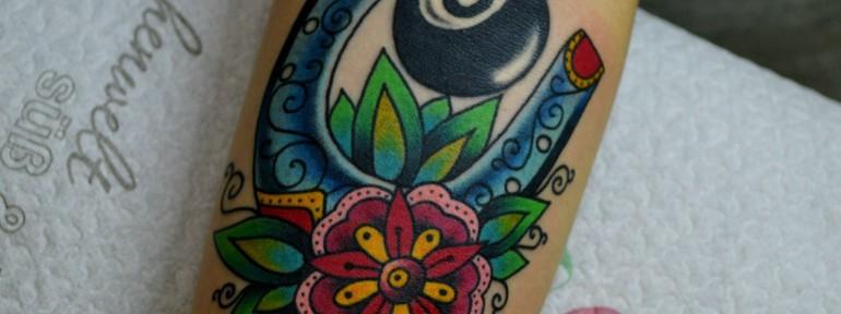 Татуировка подкова. Мастер Виолетта Доморад.